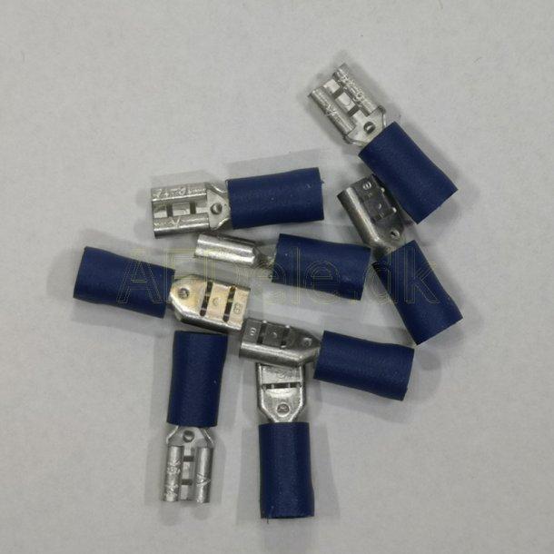 Kabelsko 4,8 mm Blå 100 stk