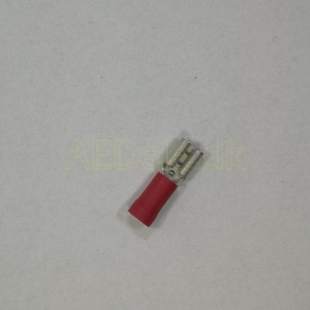Kabelsko 4,8 mm Rød