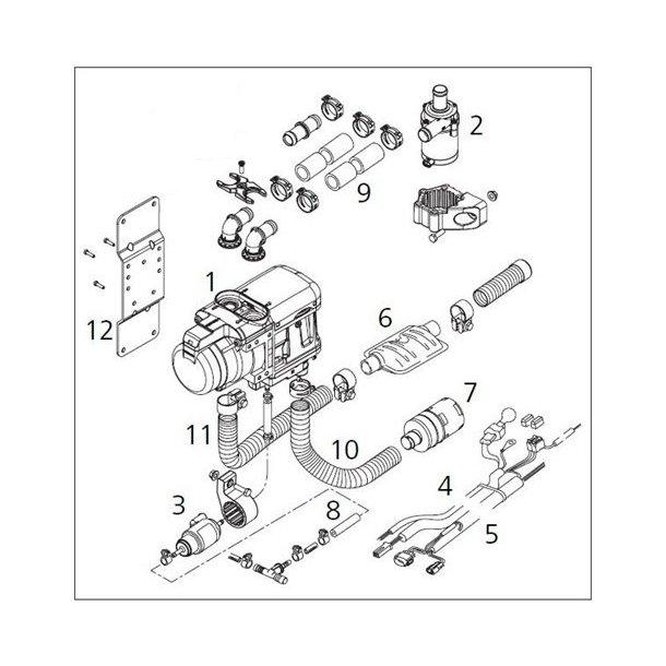 Webasto Thermo Top Evo monterings kit