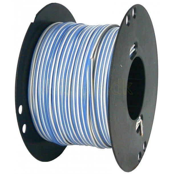 Højtalerledning 2X0,4mm2 Grå/Blå