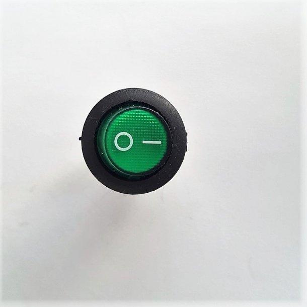 Mini vippekontakt Budget Grøn glas 0-1 5 Stk