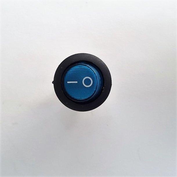 Mini vippekontakt Budget Blå glas 0-1 1 Stk