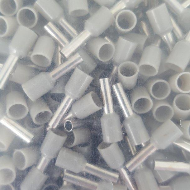 Terminalrør, Ledningstylle 4,0 mm2 Grå
