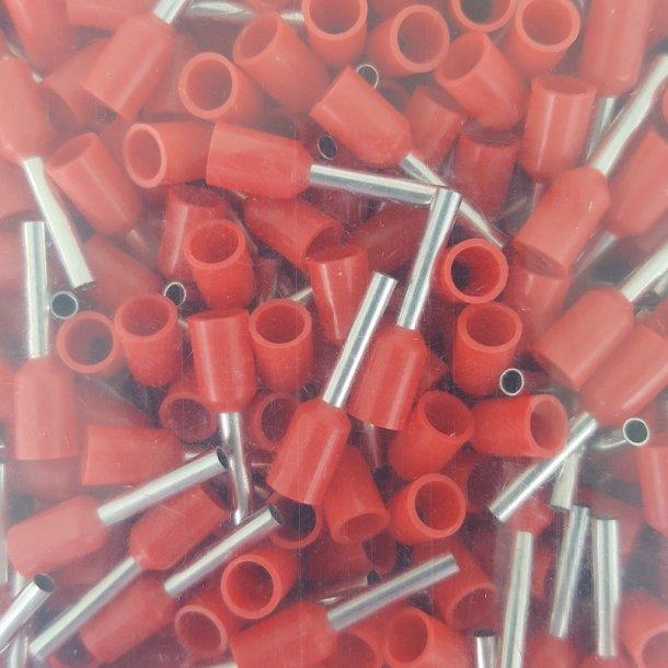 Terminalrør, Ledningstylle 1,5 mm2 Rød